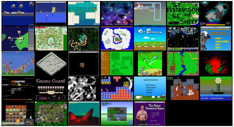 Ludum Dare Screenshot Grid