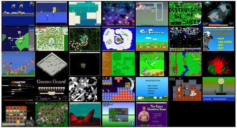 Ludum Dare Screenshot Grid